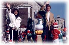 Mrs US and family are Grand Marshall of the Food Town Holiday Parade